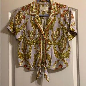 Anthropologie pattern blouse